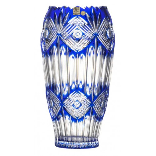 Crystal Vase Mary, color blue, height 255 mm