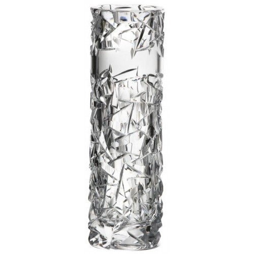 Crystal Vase Floe, color clear crystal, height 205 mm