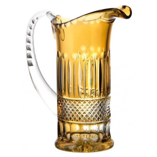 Crystal pitcher Tomy, color amber, volume 1200 ml