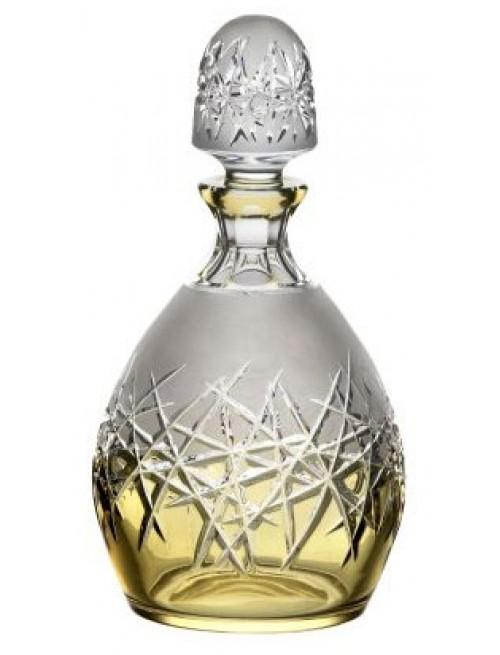 Crystal bottle Hoarfrost, color amber, volume 700 ml