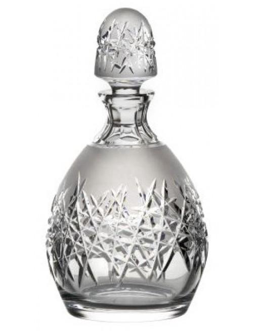 Crystal bottle Hoarfrost, color clear crystal, volume 700 ml