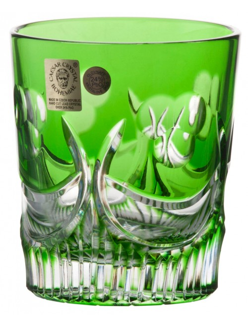 Crystal glass Diadem, color green, volume 290 ml