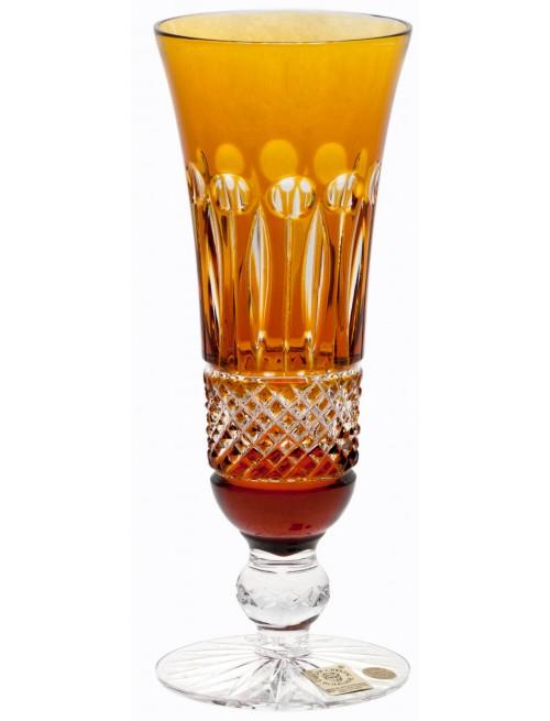Crystal flute Tomy, color amber, volume 150 ml