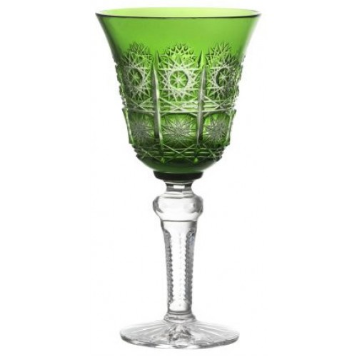 Crystal wine glass Paula, color green, volume 240 ml