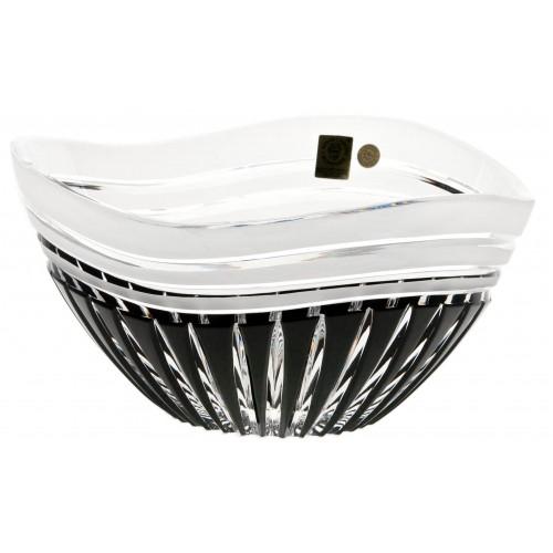 Crystal Bowl Dune, color black, diameter 155 mm