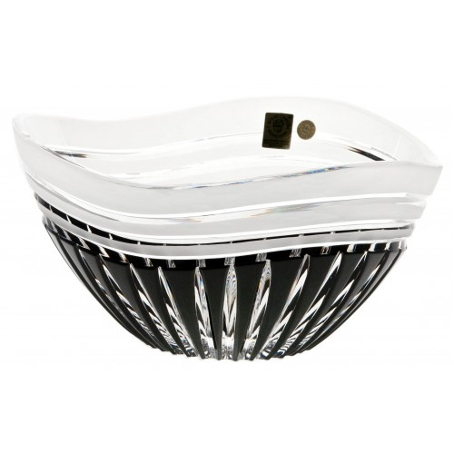Crystal bowl Dune, color black, diameter 180 mm