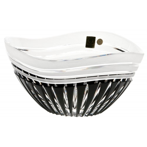 Crystal bowl Dune, color black, diameter 225 mm