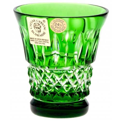 Crystal Shot Glass Tomy, color green, volume 50 ml