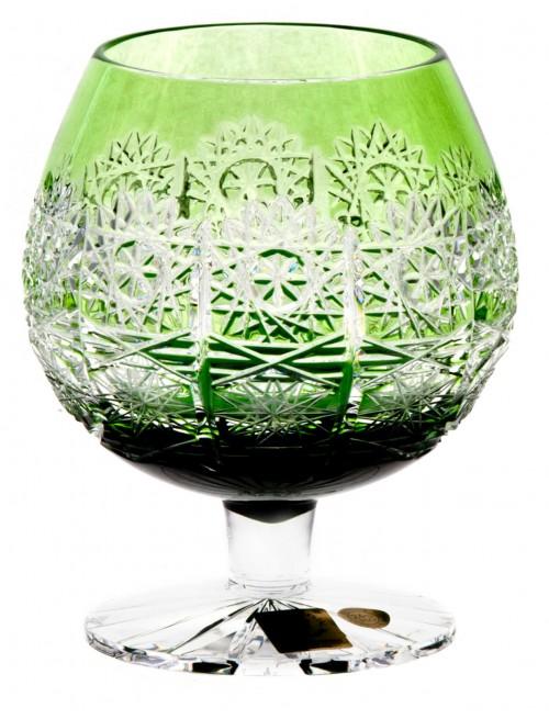 Crystal Glass Brandy Paula, color green, volume 300 ml
