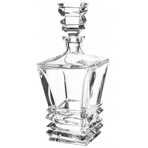 Crystal bottle Rocky, color clear crystal, volume 850 ml