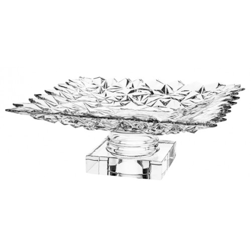 Crystal footed plate Glacier, color clear crystal, diameter 305 mm