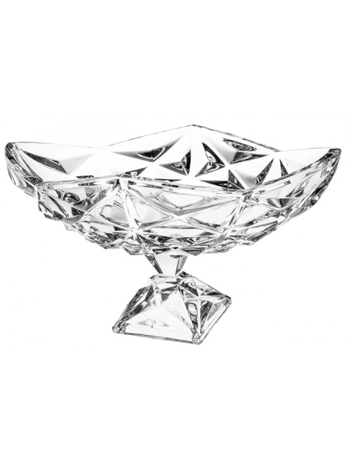 Crystal footed bowl Pyramid, color clear crystal, diameter 380 mm
