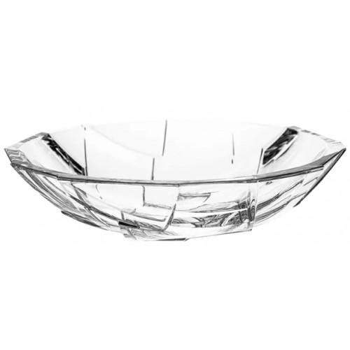 Crystal bowl Crack, color clear crystal, diameter 335 mm