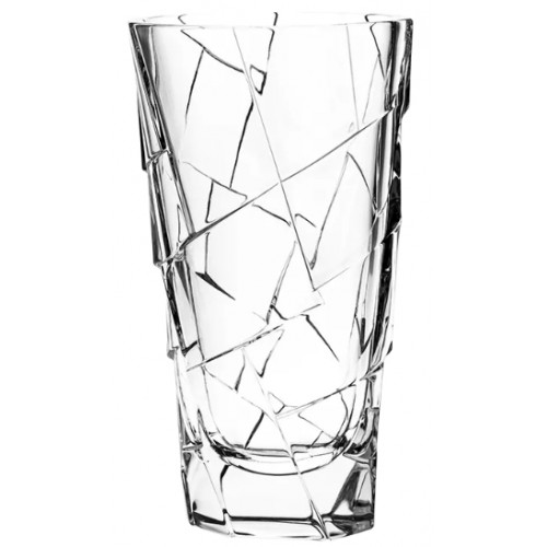 Crystal Vase Crack, color clear crystal, height 305 mm