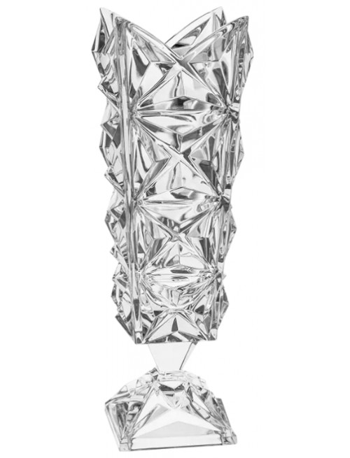 Crystal Vase Pyramid, color clear crystal, height 382 mm