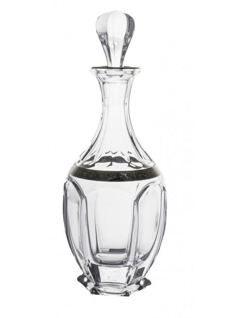 Crystal Bottle Safari Platinum, unleaded crystalite, volume 800 ml