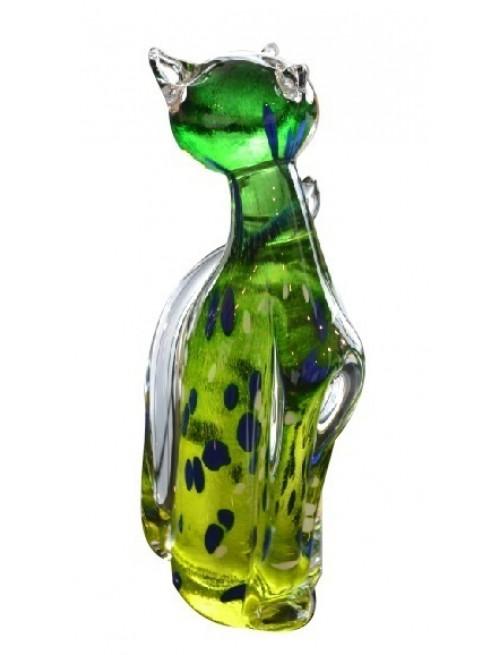 Cat blown glass, height 170 mm