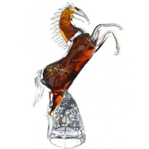 Horse blown glass, height 340 mm