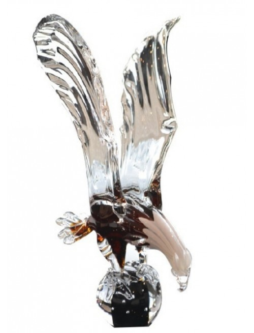 Eagle blown glass, height 390 mm