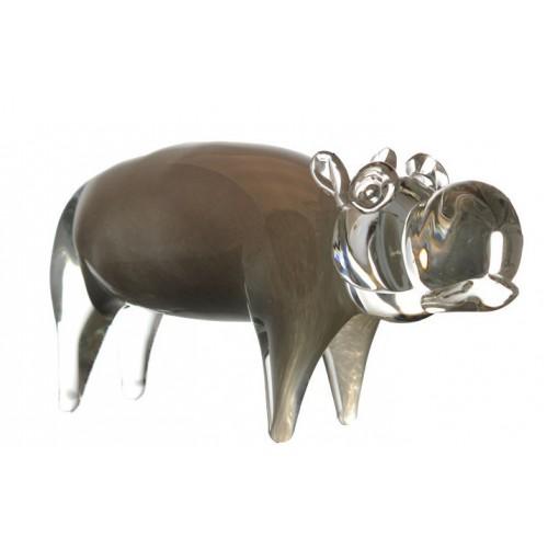 Hippopotamus blown glass, size 280 mm