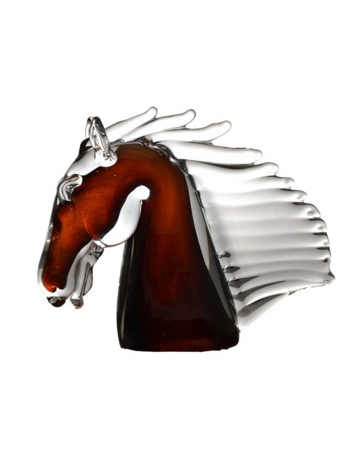 Head of the horse blown glass, height 190 mm