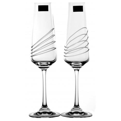 Crystal Set Crystal Wine Glass Naomi 2x, crystal glass - unleaded, decorated, volume 160 ml