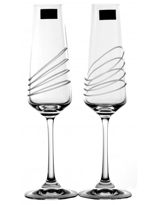 Crystal Set Crystal Wine Glass Naomi 2x, crystal glass - unleaded, decorated, volume 160 ml