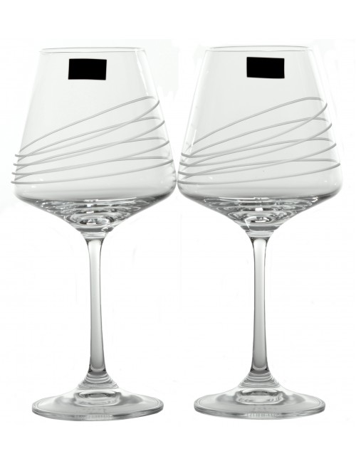Crystal Set Crystal Wine Glass Naomi 2x, crystal glass - unleaded, decorated, volume 360 ml