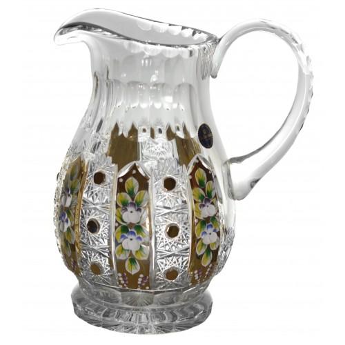 Crystal pitcher 500K gold, color clear crystal, volume 1500 ml