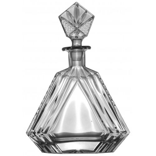 Crystal bottle, color clear crystal, volume 550 ml
