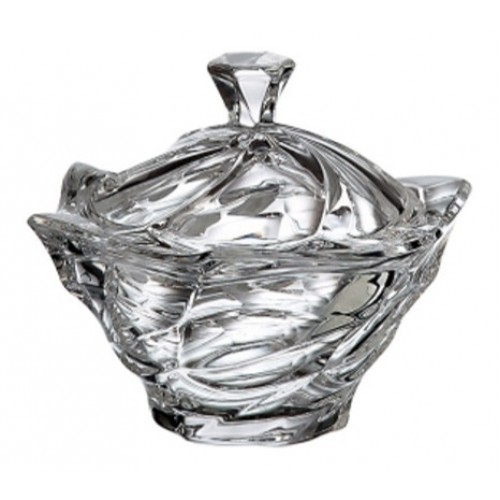 Crystal box Flamenco, unleaded crystalite, height 130 mm