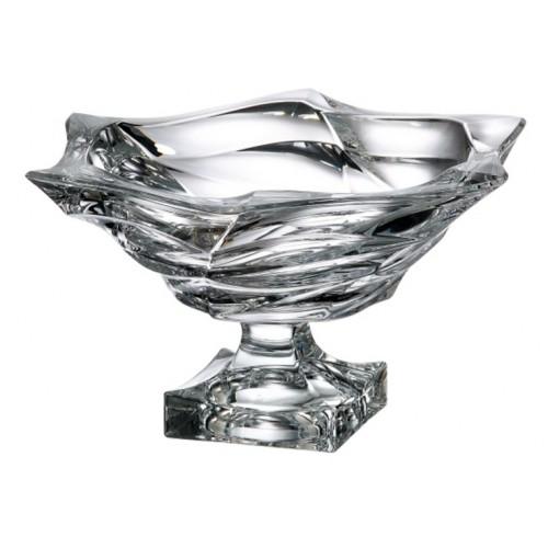 Crystal footed bowl Flamenco, unleaded crystalite, diameter 330 mm