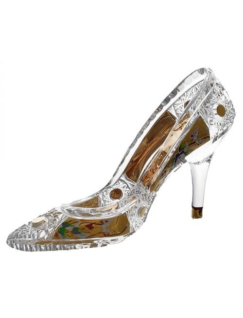 Crystal shoe 500K gold, color clear crystal, diameter 195 mm