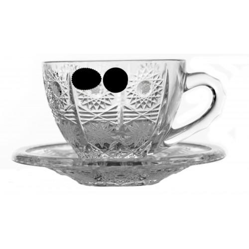 Crystal Set Tea Cups 6+6, 500PK, color clear crystal