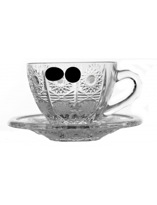 Crystal Set Tea Cups 6+6, 500PK, color clear crystal