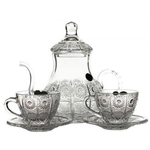 Tea crystal set 500PK 1+6+6, color clear crystal