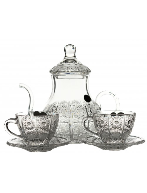 Tea crystal set 500PK 1+6+6, color clear crystal