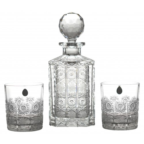 Crystal set of Whisky 1+6, color clear crystal, volume 800 ml + 320 ml