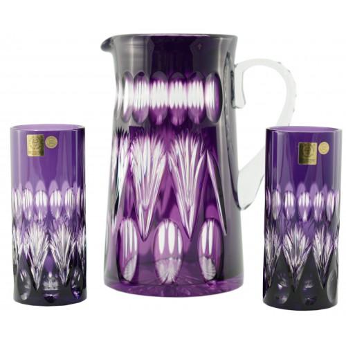 Crystal set Zora, color violet, volume 1450 ml + 2x350 ml