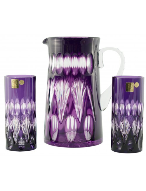 Crystal set Zora, color violet, volume 1450 ml + 2x350 ml