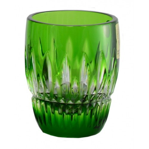 Crystal shot glass Thorn, color green, volume 50 ml