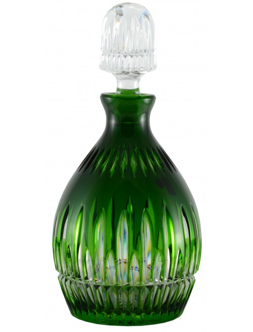 Crystal bottle Thorn, color green, volume 700 ml