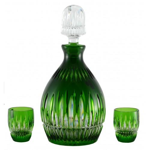 Crystal set Thorn 1+2, color green, volume 700 ml + 50 ml