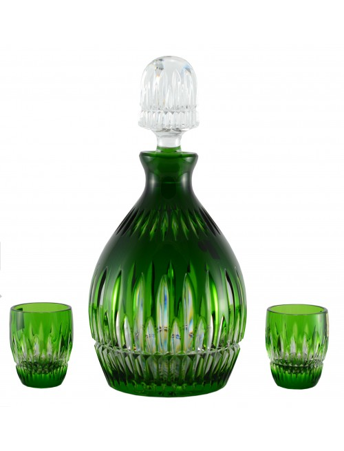 Crystal set Thorn 1+2, color green, volume 700 ml + 50 ml